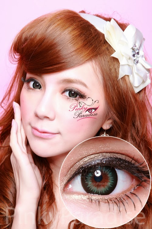 GEO Xtra WBS 203 Bella Green Circle Lenses (Colored Contacts)