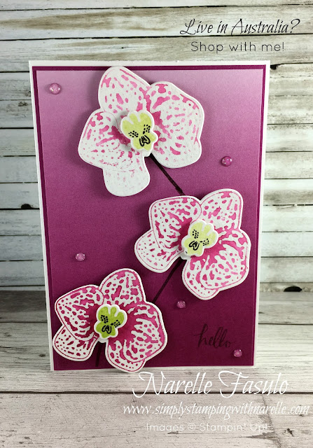 Climbing Orchid Bundle - Coordinating stamp set and dies to make the most gorgeous flowers - Simply Stamping with Narelle - get the supplies to make your own here - https://www3.stampinup.com/ecweb/default.aspx?dbwsdemoid=4008228