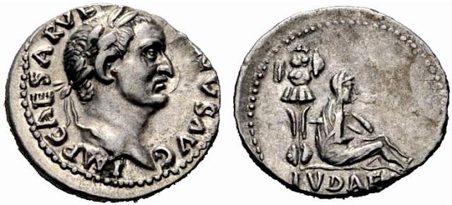 denario de Vespasiano Judea Capta