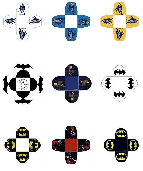 Cajas Abiertas de Batman para Imprimir Gratis.