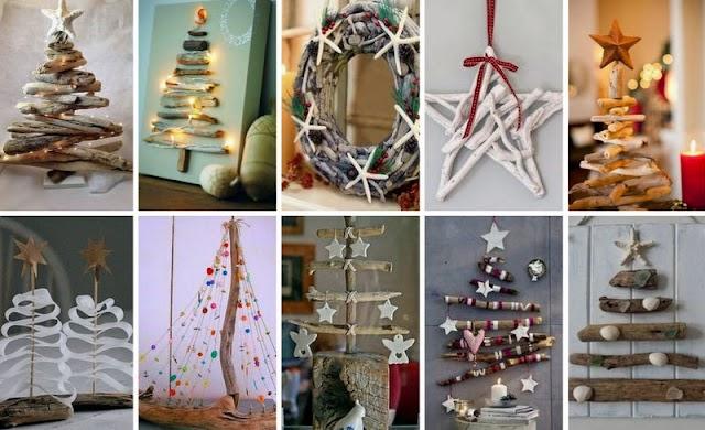 50+ Χριστουγεννιάτικες ιδέες με Θαλασσόξυλα