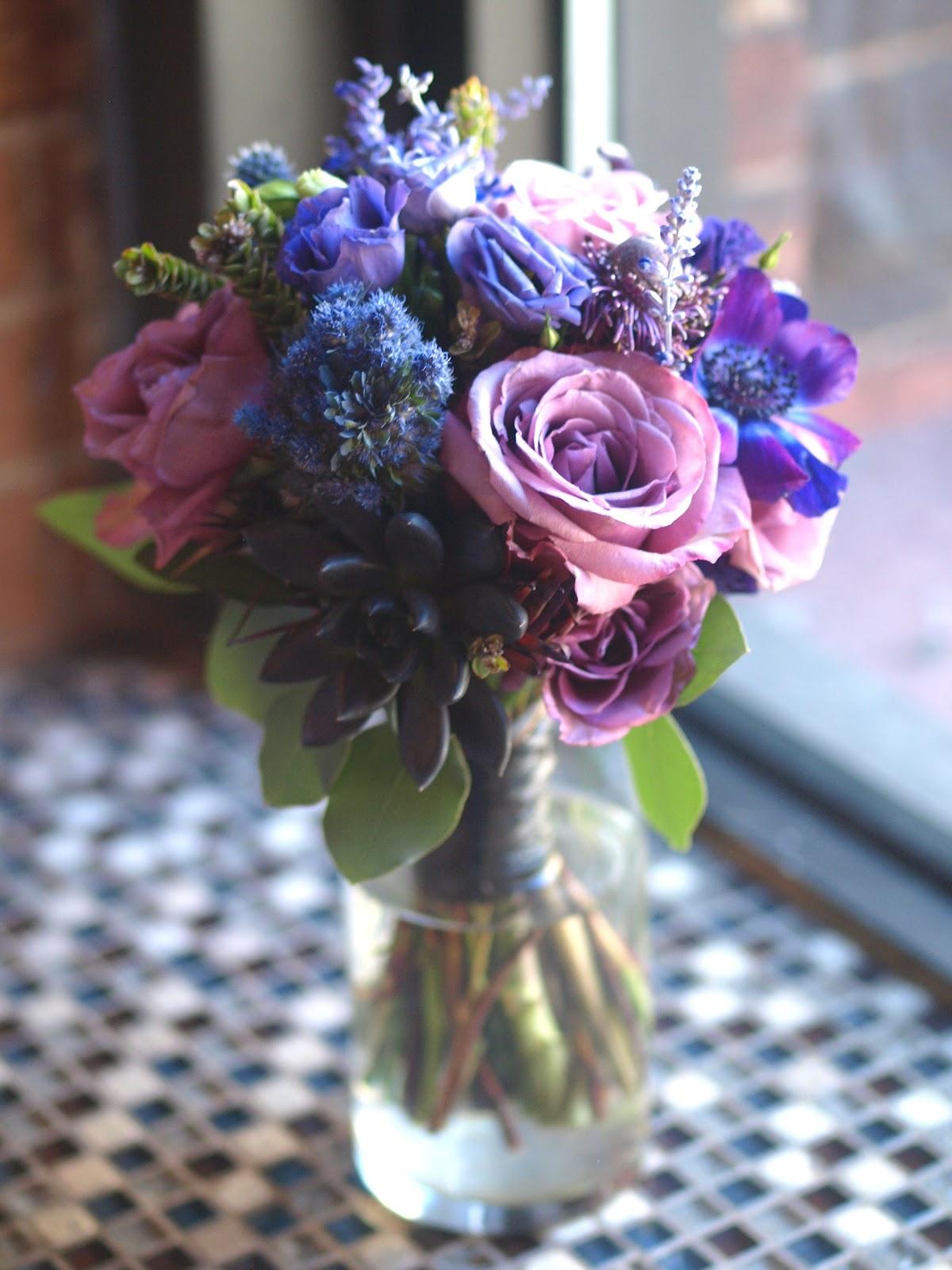 Bridal Bouquet Featuring Purple