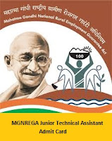 MGNREGA Junior Technical Assistant Admit Card