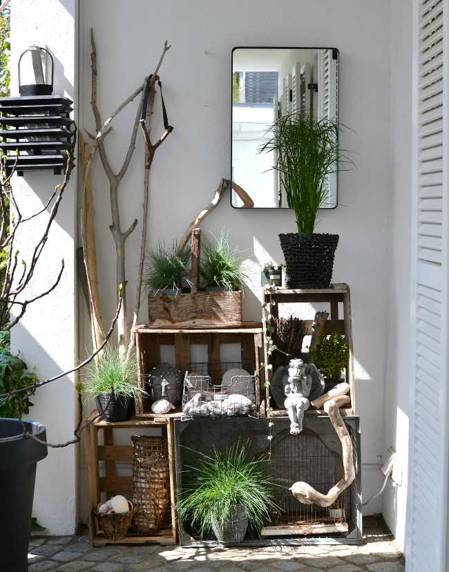 Look pimp your room terrassen styling mit weinkistenregal for Dekoration terrasse