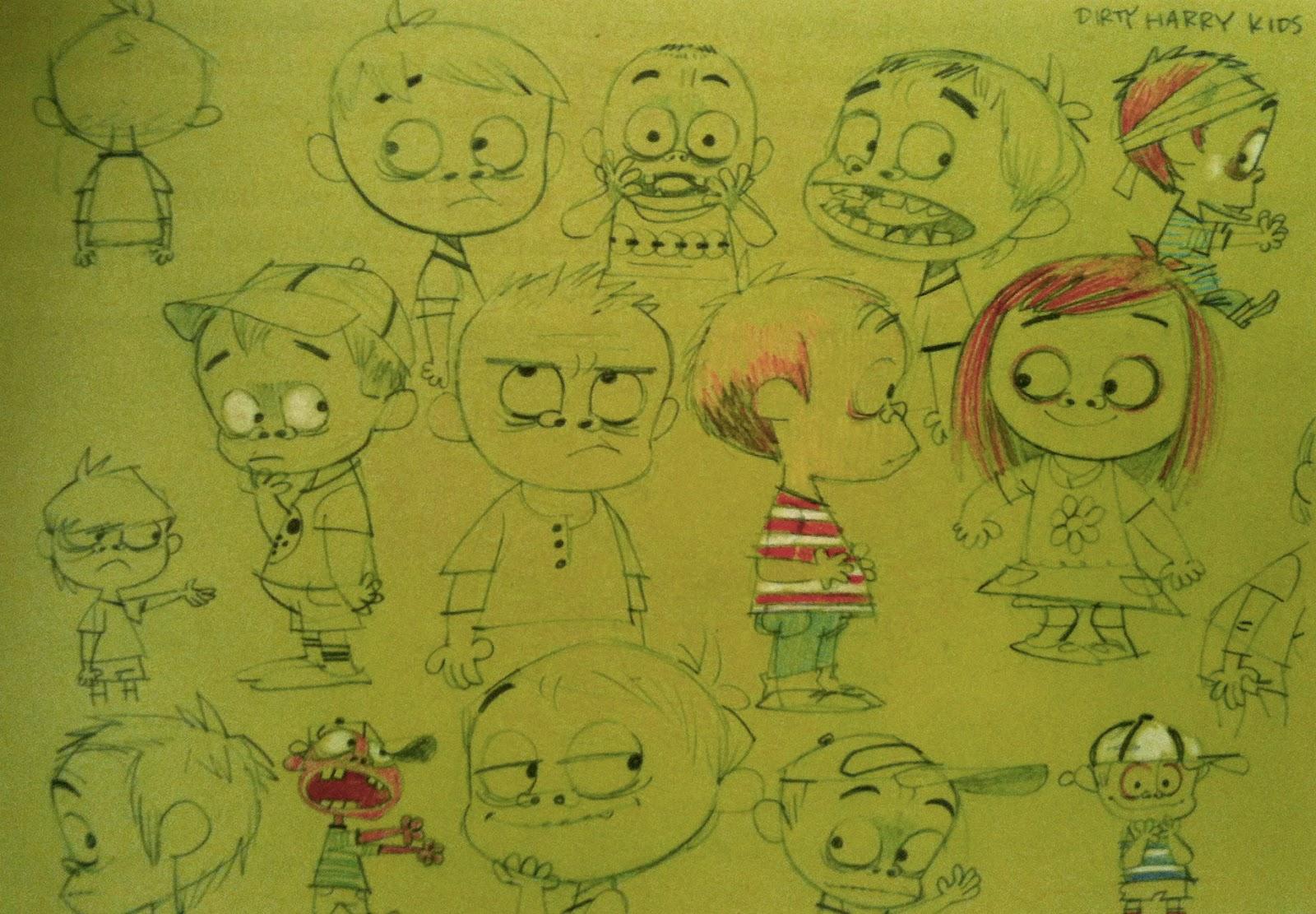 Scribble Junkies: Sketches of the kids in