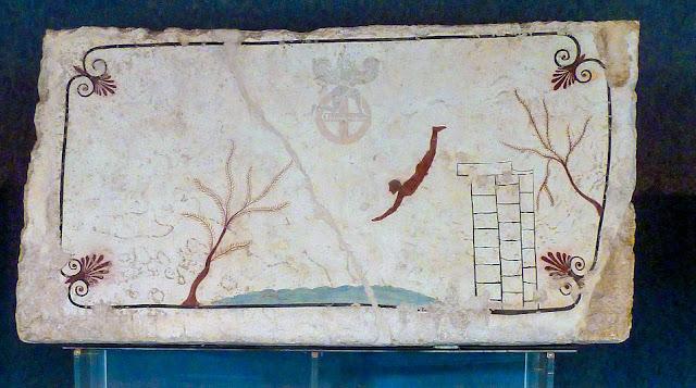 """Στην Ποσειδωνία της Μ.Ελλάδας ποιος άνδρας ήταν θαμμένος στον λεγόμενο «τάφο του Δύτη """""""