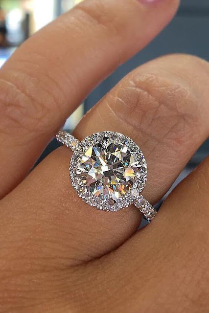 Engagement is an event where the promise of being together is made by two loved persons a 31+ Unique and Beautiful Round Engagement Rings In Style 2019