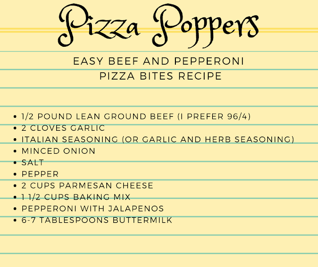Recipe for Pizza Bites