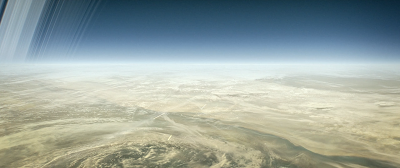artist concept surface of saturn