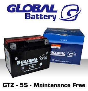 Harga aki  Global Battery terbaru