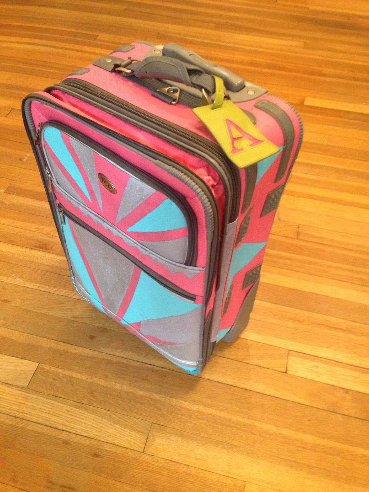 Painted Luggage Suitcase Craft DIY