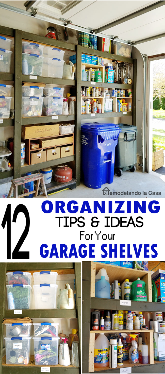 garage organization and twelve tips and ideas to keep the shelves clutter free