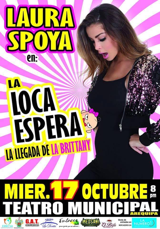 Laura Spoya en Arequipa - 17 de octubre