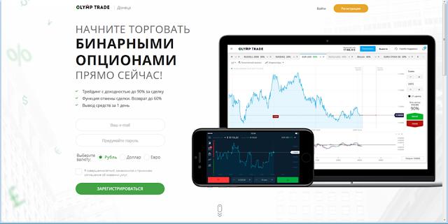 Сайт брокера Olymp Trade