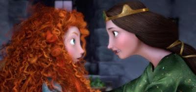 A relação conturbada entre Merida e a mãe é muito bem explorada na animação da Disney