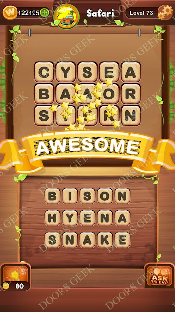 Word Bright Level 73 Answers, Cheats, Solutions, Walkthrough for android, iphone, ipad and ipod