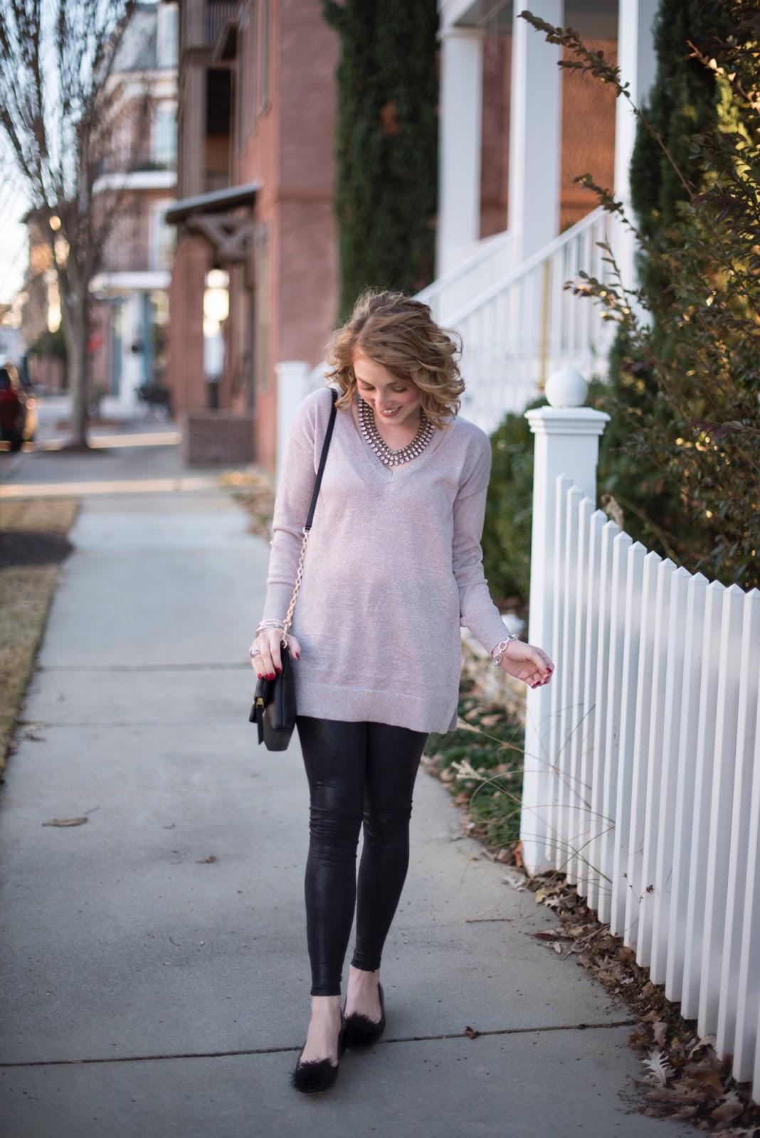 Faux Leather Leggings - Something Delightful Blog