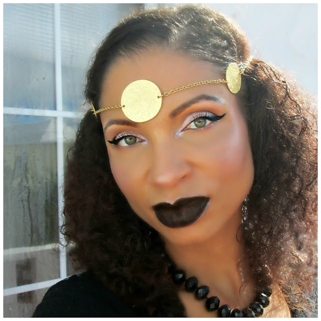 FOTD and MOTD of  glamorous black Halloween makeup