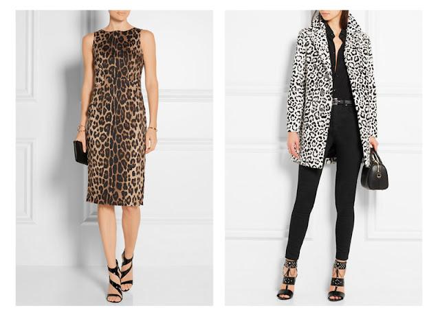 Элегантное платье и пальто с леопардовым принтом