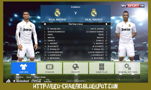 PES 2017 Real Madrid Kit Season 2011-2012 by Geo_Craig90