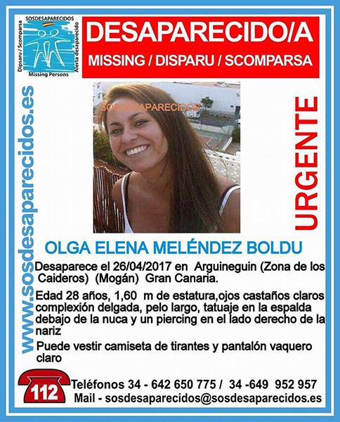 Joven desaparecida, Arguineguin Gran Canaria