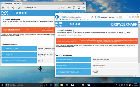 Novità browser Edge Windows 10 mix con vecchio internet explorer