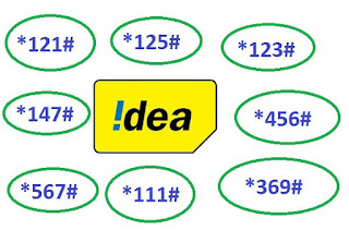 Idea ALL USSD Codes List with details