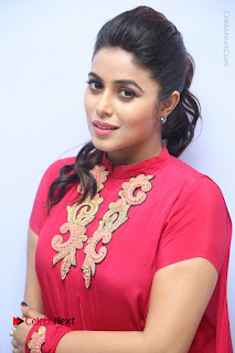 Actress Poorna Latest Stills in Red Dress at Rakshasi First Look Launch  0014.JPG