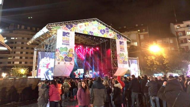 concierto de la MTV en Herriko Plaza
