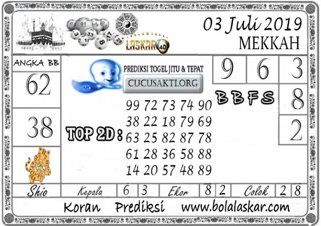 Prediksi Togel MEKKAH LASKAR4D 03 JULI 2019