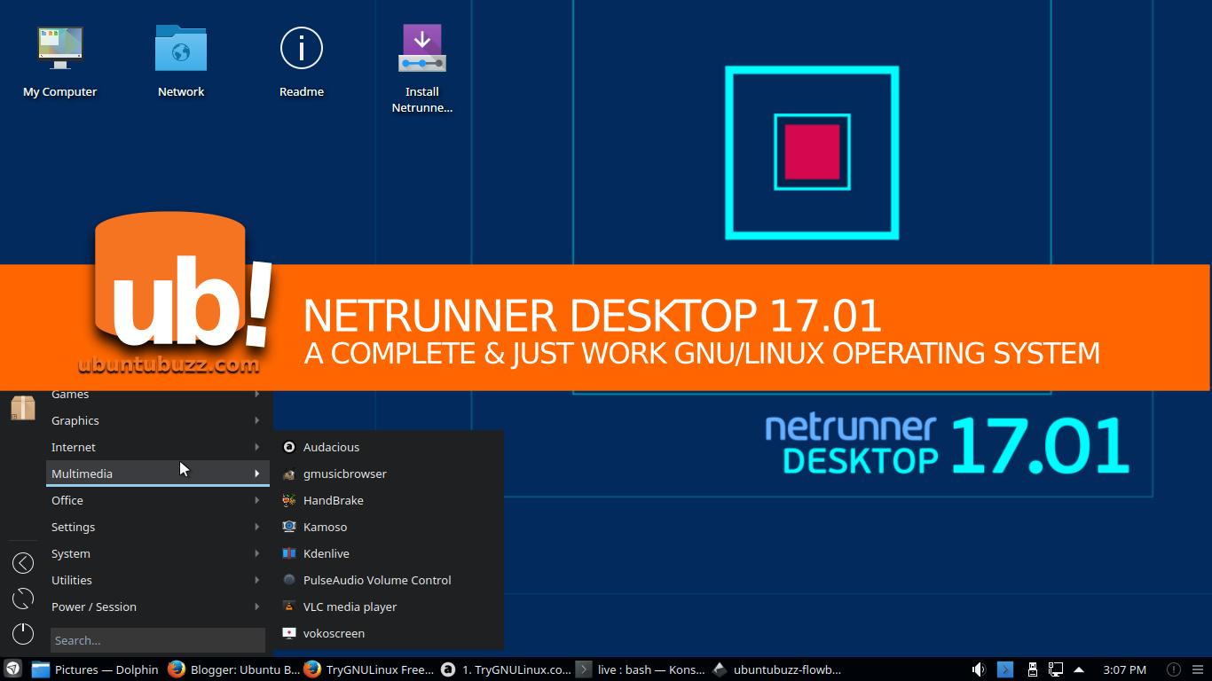 Ubuntu Buzz !: Intro To Netrunner Desktop 17 01 GNU/Linux