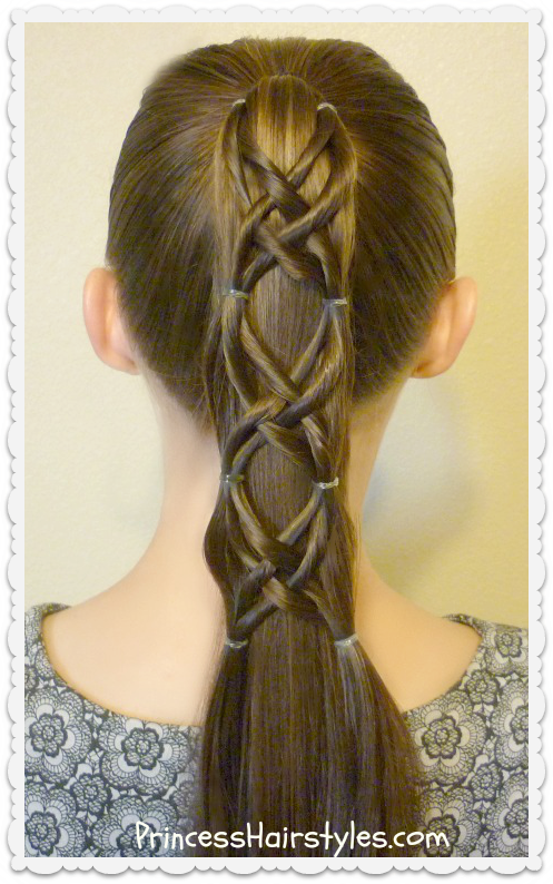 Criss Cross Woven Ponytail Hairstyle | Hairstyles For Girls - Princess Hairstyles
