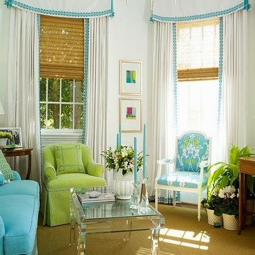 Interior colors combinations #3 - Lime Green/ Aqua Blue ...