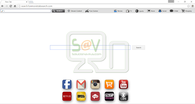 Search.funmovietabsearch.com (Hijacker)