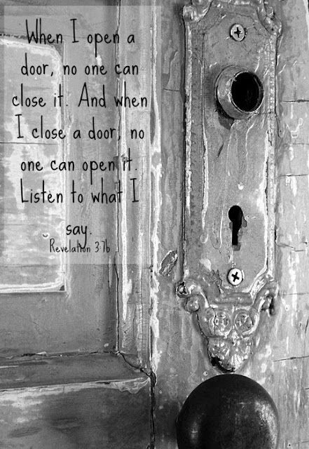Let God open and shut the doors in our lives