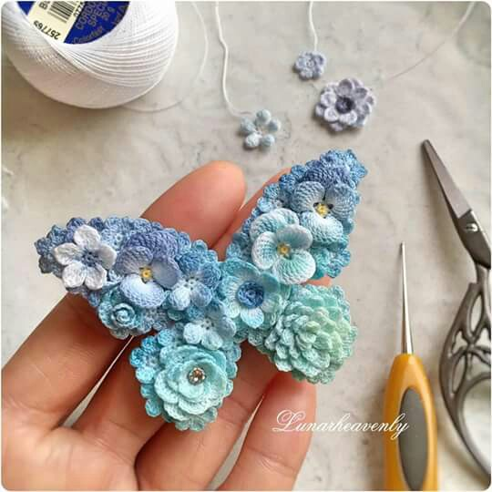 Ergahandmade Crochet Brooch In Butterfly Shape Tutorial Instructions