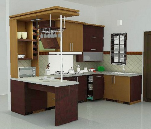 53 model dapur desain kitchen set minimalis ini sangat berbeda for Kitchen with mini bar design