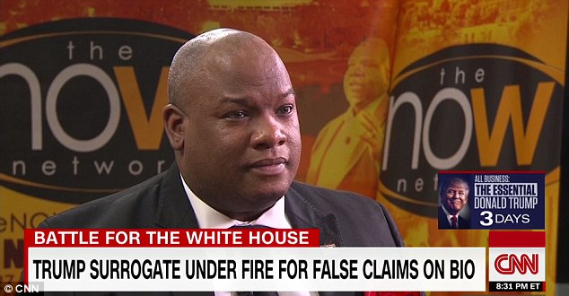Trump's surrogate Pastor Mark Burns caught lying on CNN