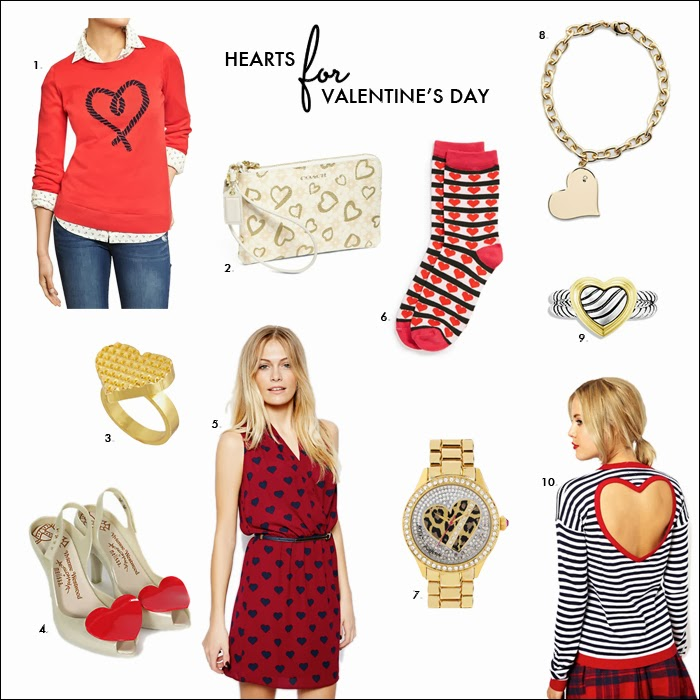 heart sweaters, valentines day, heart socks, heart sweater, heart clutch, asos, old navy, heart dress, what to wear valentines day