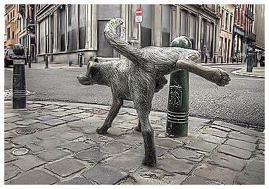 art, be Statue  , Belgique, bronze, brussels, bruxelles,   Molenbeek-Saint-Jean, rue, sculpture, street, Tom Frantzen, , Zinneke Pis, Брюссель
