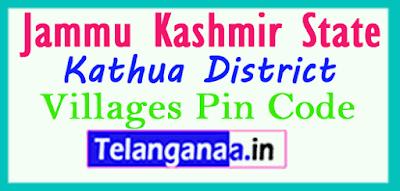 Kathua District Pin Codes in Jammu kashmir State