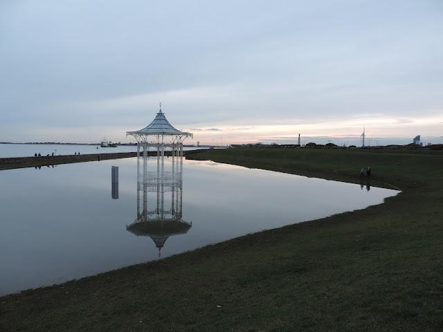portsmouth storm damage flooded seafront
