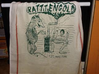 Ratttengold-Geschirrtuch
