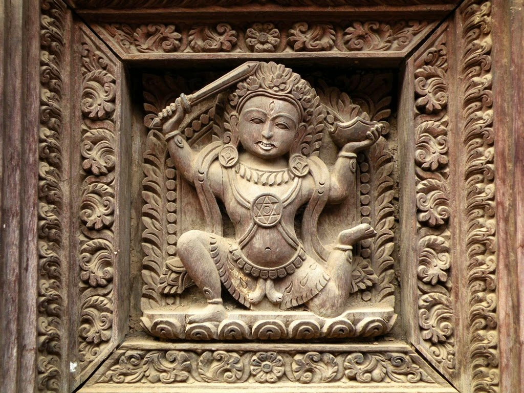 Woodcarving of Nepal, decorative panel