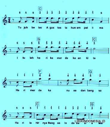 17 Agustus Lagu Wajib Nasional