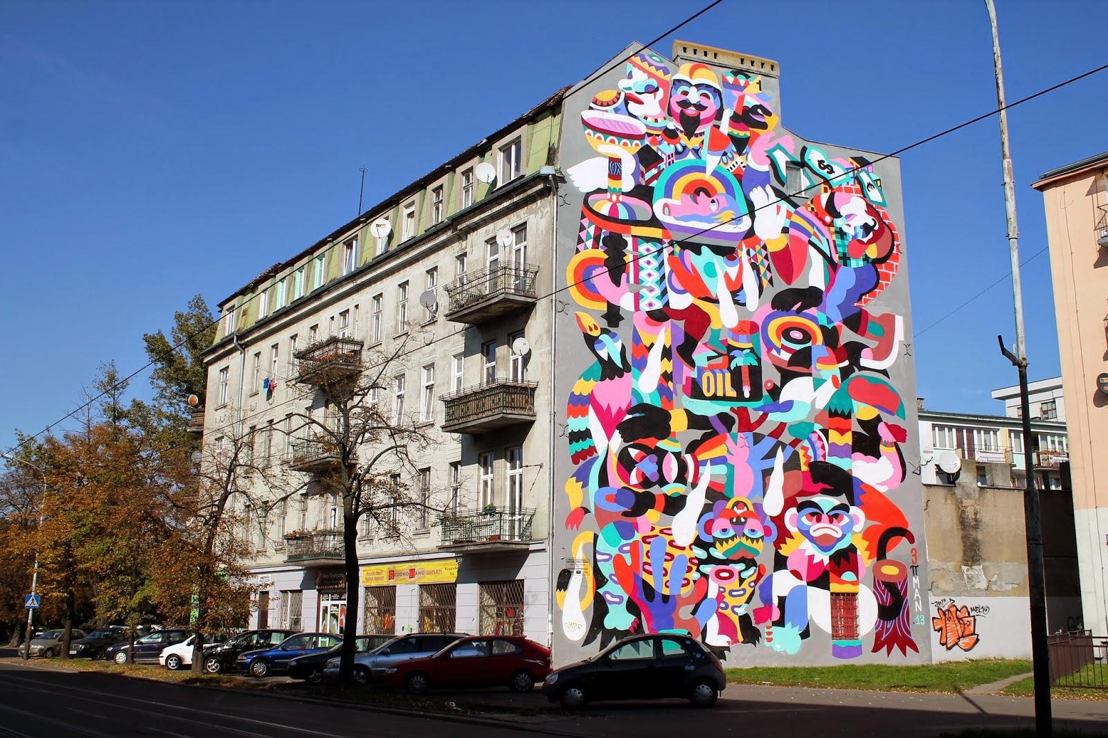 Baedeker dzki d mural przy ulicy rzgowskiej 52 for Mural na tamie w solinie
