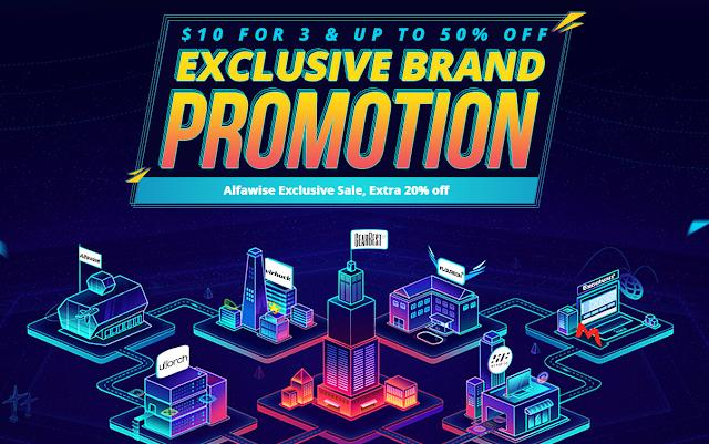 Promoção Marcas exclusivas na Gearbest