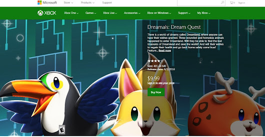 XBox1 Indie Game 'Dreamals: Dream Quest' is launched on XBox1