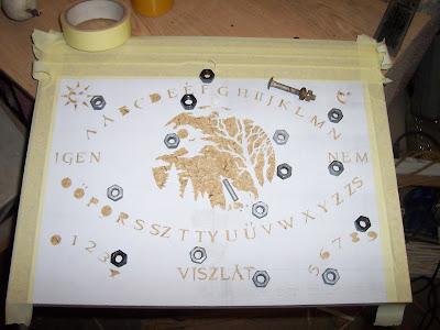 Ouija tábla házilag