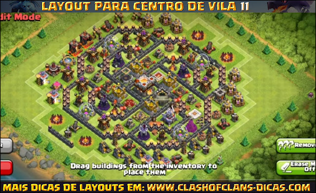 Town Wall 11 FARM Layout - Bomb Tower and walls updated TH11